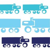 Things That Go - Trucks Stretched Wall Art