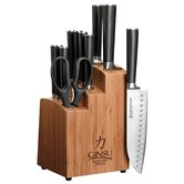 Chikara 12 Piece Bamboo Knife Block Set