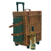 2 Person Deluxe Wicker Hamper in Olive Lining