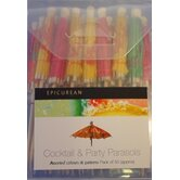 50 Piece Cocktail Stick Parasols Set