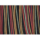 Aurora Black Striped Rug