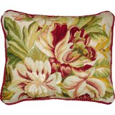 Magnolia 100% Wool Needlepoint Pillow