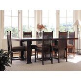 "Frank Llloyd Wright Dana-Thomas 60 - 84"" W x 42"" D Extension 7 Piece Dining Set"