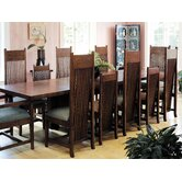 "Frank Llloyd Wright Dana-Thomas 84 - 124"" W x 42"" D Grand Extension 13 Piece Dining Set"