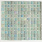 "Metallica Satin 1"" x 1"" Glass Mosaic in Acquamarina Metallica Satin"