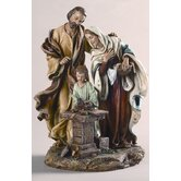 "9.5""  Holy Family in Carpenter Shop Figurine"