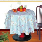Flower PVC Table Cloth in Blue