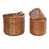 Round Willow Utility Basket (Set of 3)
