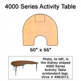 4000 Series Horseshoe Activity Table with Fully Chrome Short Legs