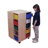 Cubby Spinner Mobile Storage Unit with Assorted Trays