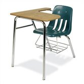 "9000 Series 30"" Plastic Combo Chair Desk"