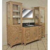 "Elmhurst 97"" Single Basin Vanity with 2 78"" Linen Towers"