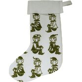 Elf Block Print Stocking