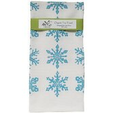 Organic Snowflake All Over Pattern Block Print Tea Towel