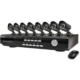 8 Channel DVR  with 8 Day/NIght Cameras