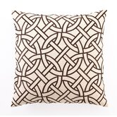 Circle Link Down-Filled Embroidered Pillow