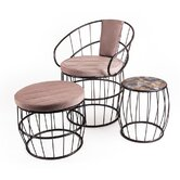 Mosaic 3 Piece Lounge Seating Group with Cushions