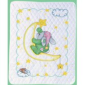 Crescent Moon Quilt Counted Cross Stitch
