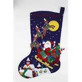 Over the Rooftops Jumbo Felt Stocking Cross Stitch