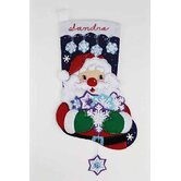 Santa's Snowflake Collection Stocking Cross Stitch