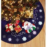 Santa's Snowflake Tree Skirt Counted Cross Stitch