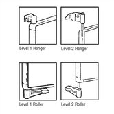Tactics Plus® Complete Set of Level 1 or 2 Hangers and Rollers