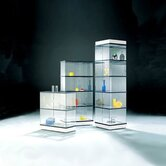 CrystalMint® Trapezoid Modular Display Case and Lighting Set Kit