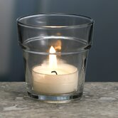 Glass Flower Pot Votive Candle Holder (Set of 4)