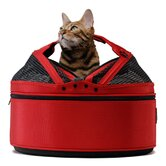 Mini Mobile Pet Bed/Carrier  in Strawberry Red