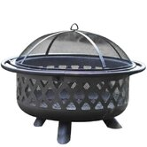 Diamond Weave Steel Fire Pit
