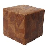 Berlin Leather Cube Ottoman