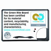 Green Rite Dry Erase Board, 36 x 24, White, Black Frame