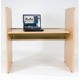 Teak H Carrel Study Desk