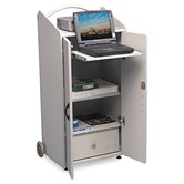 ROLZ Mobile Conference Center, 23-1/2 x 17 x 41-1/2, Gray