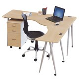 IFlex L-Shape Desk Office Suite