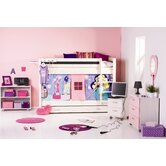 Trendy Pop Girl Bedroom Set with Ladder