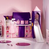 Trendy Princess Slanting Ladder and Slide Midsleeper Set