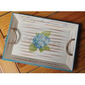 I Sea Life Hydrangea Serving Tray