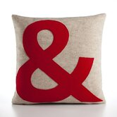 &quot;&amp;&quot; Decorative Pillow