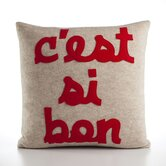 """C'est Si Bon"" Decorative Pillow"