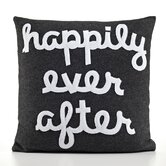 """Happily Ever After"" Decorative Pillow"