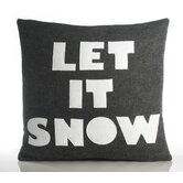 """Let It Snow"" Decorative Pillow"