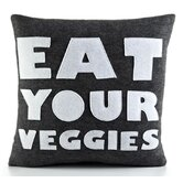 """Eat Your Veggies"" Decorative Pillow"