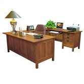"Craftsman Home Office 72"" W U-Executive Desk with Left Return"