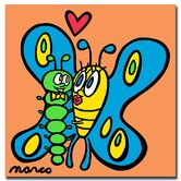 "Butterfly Caterpillar by Marco, Canvas Art - 14"" x 14"""