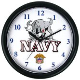Deluxe Chiming US Navy Wall Clock