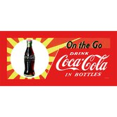 Coca Cola On the Go Coke Stretched Canvas Print