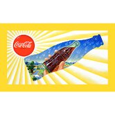 Coca Cola Sun and Rain Coke Bottle Stretched Canvas Print