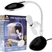2 in 1 Laptop Desk LED Lamp and Fan in Black