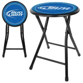 Bud Light Cushioned Folding Stool in Black